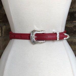 Vintage Belt S Leather Western Women's Silver